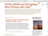 WCHS, MPHS and Park College...Diary Writing 1960-1965