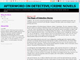 Afterword On Detective/Crime Novels