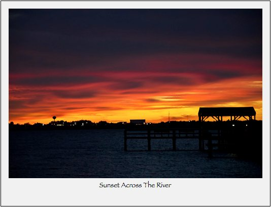 Noded: Sunset Across The River